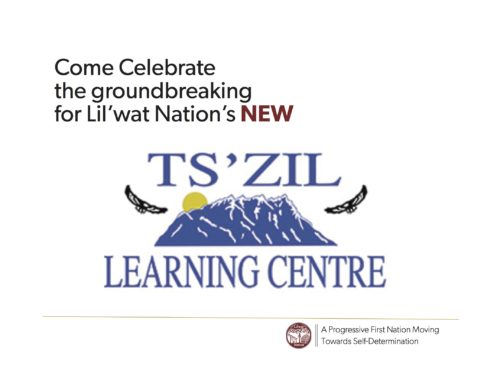 Bring your drums! Groundbreaking ceremony for NEW Ts̓zil Learning Centre on Thursday