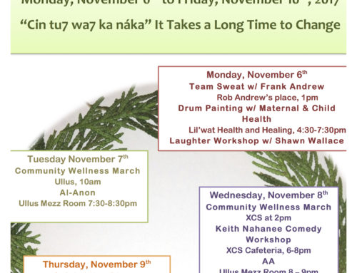 12th Annual Líĺwat Nation Addictions Awareness Week