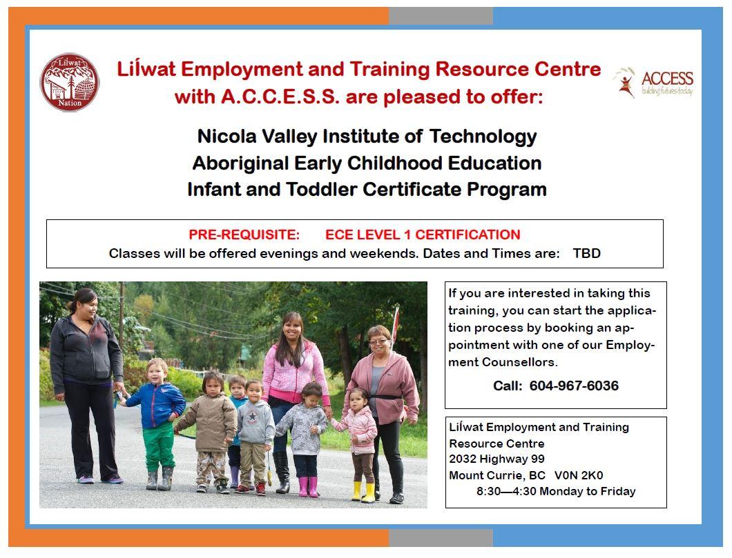 certificate early childhood education infant toddler program ece