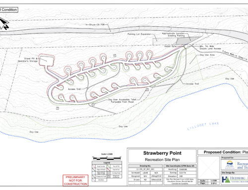 New Campsite Development at Strawberry Point