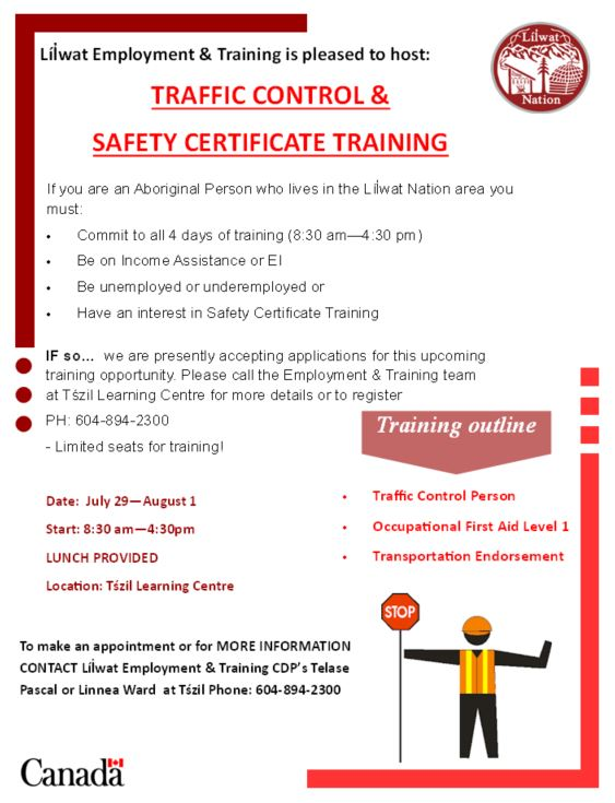 TCP & Safety Certificate Training – Lil'wat